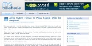 Weezevent fait sa pub sur Mabilletterie.fr
