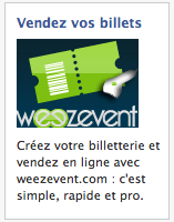 Pub Facebook Weezevent