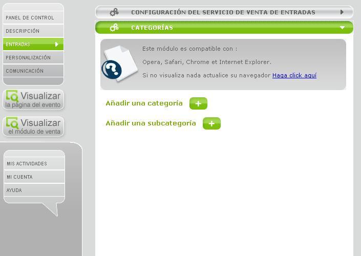 En anglais, en espagnol, de nouvelles catégories…Mise àjour du site Weezevent