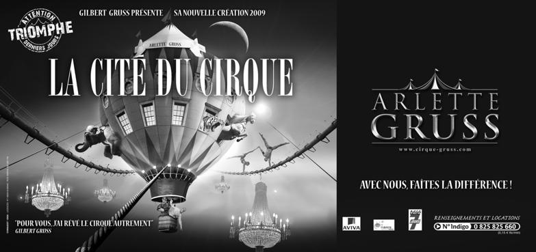 Billetterie dématérialisée du spectacle du Cirque Gruss
