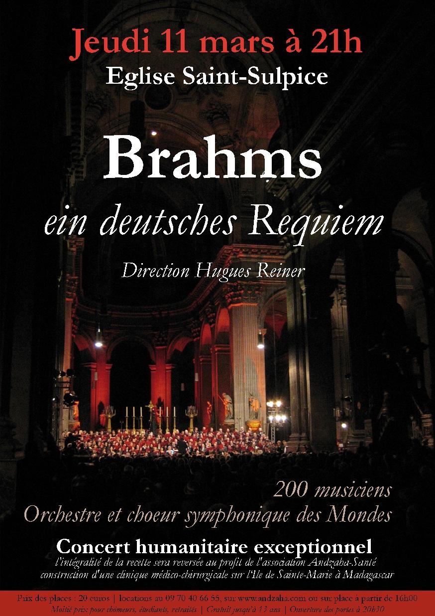 Préventes de Ein deutsches Requiem de Johaness Brahms à St-Sulpice