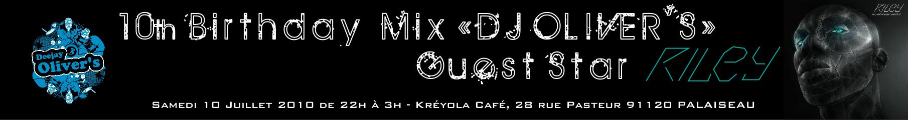 DJ Oliver's : soirée 10 ans de Mix