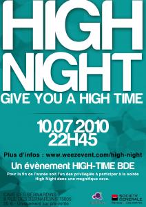 Le BDE Efficom ouvre sa billetterie pour sa soirée HIGH NIGHT!
