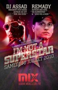 """Préventes pour la soirée """"I'm not a superstar"""""""