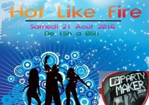 Billetterie en ligne pour la soirée HOT LIKE FIRE!