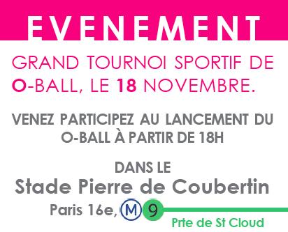 Les inscriptions en ligne du premier tournoi d'O-Ball en France