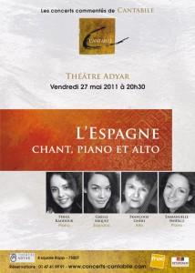 Billetterie en ligne du concert Cantabile – L'espagne, piano, chant et alto