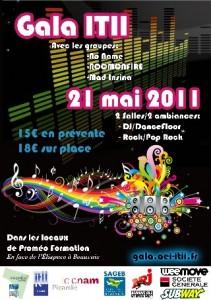 Préventes en ligne pour le gala ITII Picardie