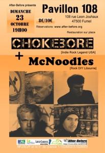 Chokebore et McNoodles en concert avec la billetterie en libre service Weezevent.