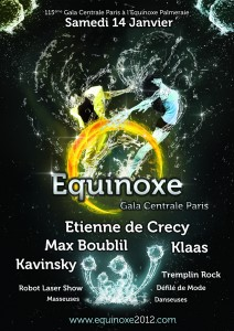Gala Centrale Paris présente sa soirée étudiante L'Equinoxe avec la billetterie en ligne Weezevent