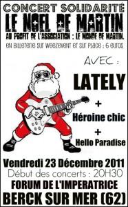 Le Noel de Martin : venez assister à ce concert solidarité avec la billetterie pour association Weezevent