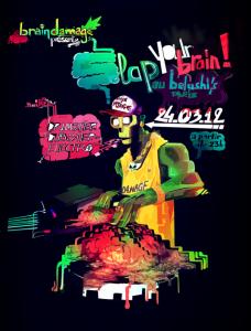 Venez participer àla soirée Slap your brain organisée par l'asso Brain Damage avec la billetterie sur facebook