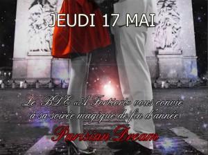 Le BDE AFortiori organise sa soirée post-partiels «Parisian Dream» avec la billetterie soirée Weezevent