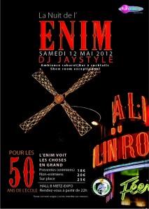La 46ème édition de La Nuit de l'ENIM utilise la billetterie facebook par weezevent