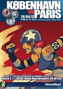 Roller Derby: Les Paris RollerGirls vous invitent àleur match contre Copenhague le 28 avril avec la billetterie intégrée Weezevent!