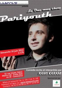 One Man Show: l'asso Lebanus France utilise la billetterie full web Weezevent pour son spectacle «Pariyouth»