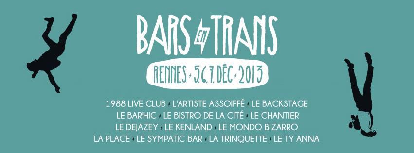 Gestion d'inscriptions Weezevent pour l'édition 2013 des Bars en Trans!
