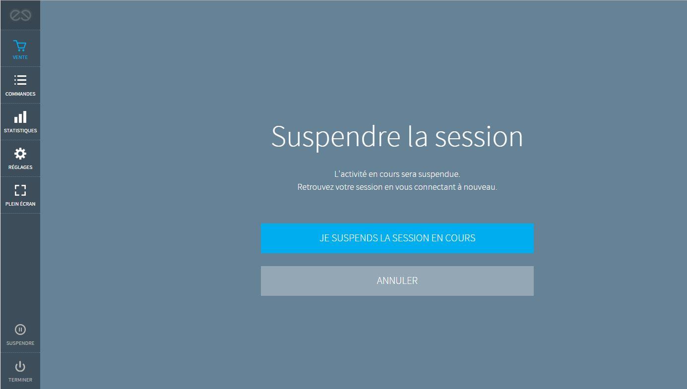 suspendre la session