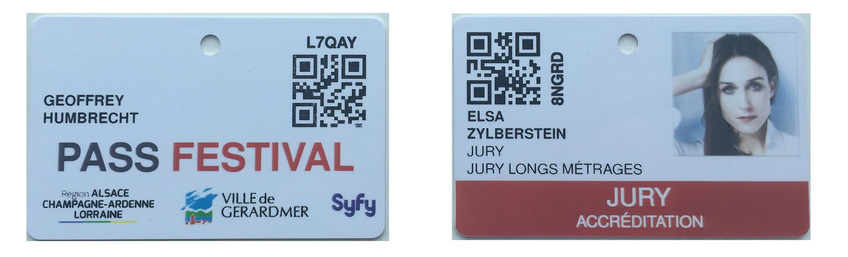 Badge QR code festival Gérardmer