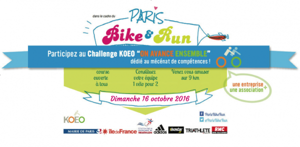 Paris Bike & Run - Sponsors billetterie mini-site