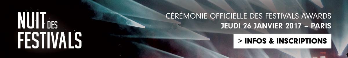 Nuit des Festivals: Weezevent vous donne rendez-vous àla cérémonie officielle des Festivals Awards!